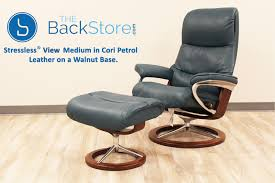 stressless view signature base medium cori petrol by ekornes