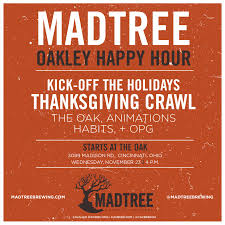 madtree oakley happy hour cavalier distributing