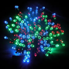 solar string lights aleko 200 led solar powered string lights with multicolor