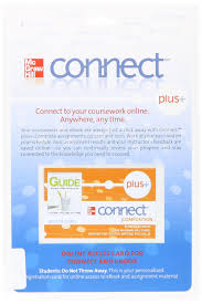 access code connect card for mcgraw hill guide writing for