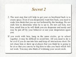 get your ex boyfriend back in your arms again implementing 5 secrets