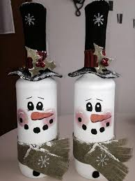How To Decorate A Wine Bottle 21 Snowman Decorations Ideas To Try This Christmas Empty Wine