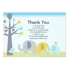 baby shower thank you cards elephant baby shower thank you card zazzle co uk