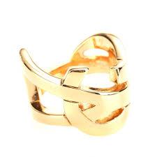 Monogram Rings Gold Saint Laurent Monogram Ring In Metallic Lyst