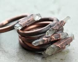 electroforming copper chalcopyrite ring electroformed copper ring peacock ore ring