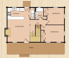 cabin plan alleghany one bedroom log floor wonderful best images