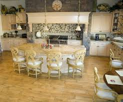Custom Kitchen Islands That Look Like Furniture by Round Kitchen Island Designs