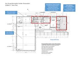 recreation center floor plan gus young project page brec org