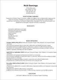 Sample Resume Computer Technician by Awesome Computer Assembler Resume 44 With Additional Sample Of