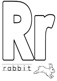 upper case and lower case letter r coloring page for preschool