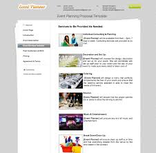 Free Event Planner Contract Template Business Proposal Templates The Proposable Blog
