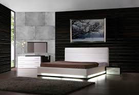 bedroom white modern platform bed with lights added white dresser
