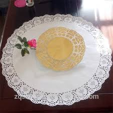 Placemats For Round Table New Christmas Products Disposable Paper Placemats In Lace Doily