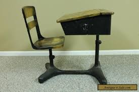 student desk and chair antique vintage student child s adjustable desk chair