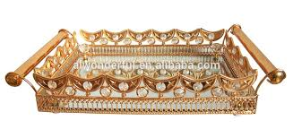 Gold Coffee Table Tray by Mirror Crystal Trays Mirror Crystal Trays Suppliers And