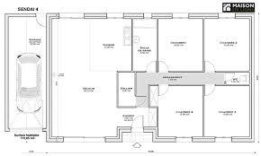 plan maison plain pied gratuit 4 chambres plan maison plain pied 85m2