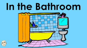in the bathroom actions easy english conversation practice