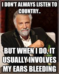 My Ears Are Bleeding Meme - i don t always listen to country but when i do it usually