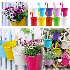 metal iron plant flower pot hanging vase balcony garden roof home