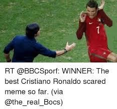 Memes Scared - ㄟ rt winner the best cristiano ronaldo scared meme so far via