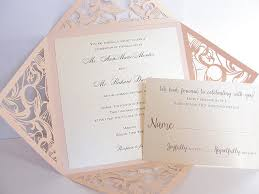 wedding invitations 1 blush pink laser cut wedding invitation