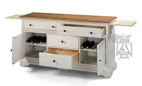 Antique White Buffet Server by Hoot Judkins Furniture San Francisco San Jose Bay Area Cresent