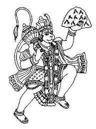 best hd images painting and sketches holding parvat and flying hanuman