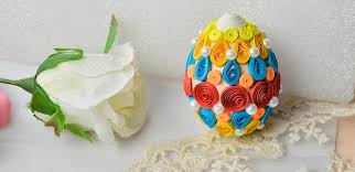 cheap easter eggs how to make cheap quilling easter eggs for kids pandahall