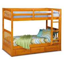 Pine Bunk Bed Ranger Storage Bunk Bed Pine American Signature
