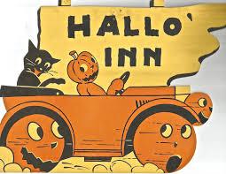 vintage halloween dennison die cut black cat jol jack o u0027lantern