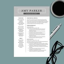 creative professional resume templates creative professional resume template for ms word modern