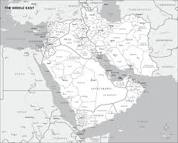Current Map Of Middle East by Chris Henrick Cartography
