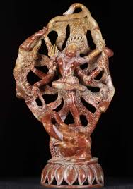 marble shiva battling the elephant statue 20