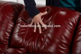 Genuine Leather Reclining Sofa Bright Colored Leather Sofa Set Bright Colored Leather Sofa Set
