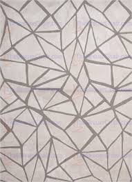 Geometric Area Rug Brio The Tufted Geometric Pattern Polyester Ivory