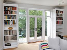 fascinating twin fitted bookshelves also modern door design with