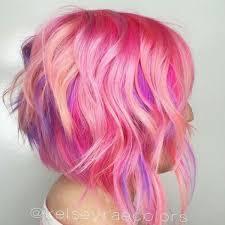 Bob Frisuren Pink by Pink Haarfarbe Bob Frisur Kurzhaar Frisuren Bob