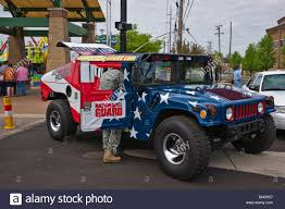 jeep american flag national guard hummer custom painted with american flag stars and
