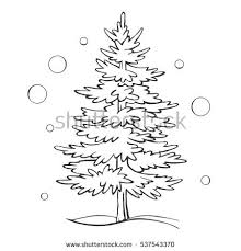 christmas tree sketch stock images royalty free images u0026 vectors