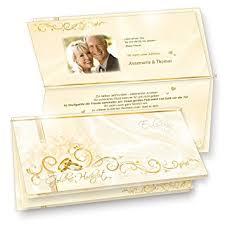 einladungskarten goldene hochzeit mit foto einladungskarten goldene hochzeit 20 sets hinreissend fein