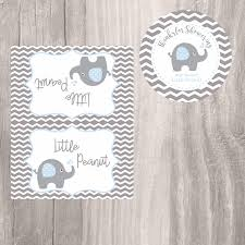 elephant favor tags and treat bag toppers blue little peanut baby