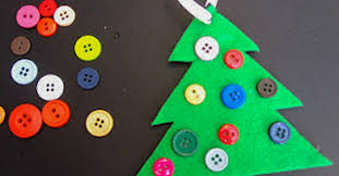 button tree ornament simple on as we grow