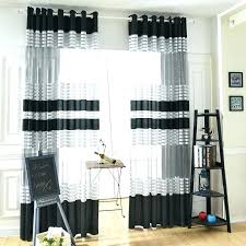 Black White Stripe Curtain Black And White Curtains For Bedroom Black And White Striped