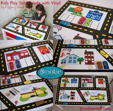 play table with vinyl brookie craft