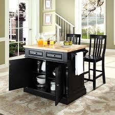 Kitchen Island And Stools by Crosley Furniture Kf300062bk Oxford Butcher Block Top Kitchen