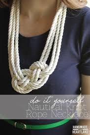 diy necklace rope images Diy nautical knot rope necklace handmade in the heartland png