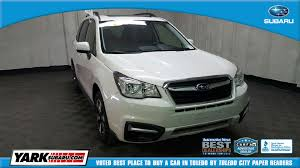 2017 subaru forester premium white certified used 2017 subaru forester 2 5i premium for sale in