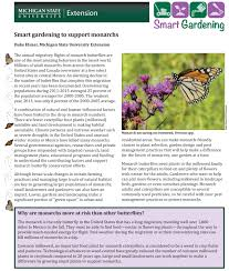 small plant supports smart gardening to support monarchs msu extension