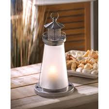 Lighthouse Home Decor Wholesale Lighthouse Lantern Silver Tone Metal Lighthouse Candle