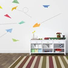 wall clings dog wall decal pet gift wall decals wall stickers paper plane wall stickers